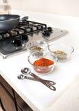 Gewürze benutzt beim Kochen Lizenzfreie Stockfotografie