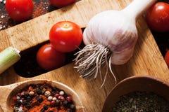 gewürze Kulinarischer Kücherezepthintergrund Lizenzfreies Stockbild