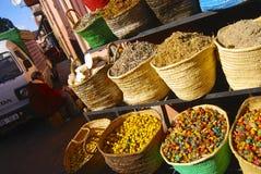 Gewürze und Kräuter, Marokko Stockfotografie