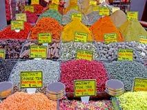 Gewürzmarktdetail stockfoto