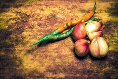 Gewürzpfeffer und rote Zwiebel Stockfotos