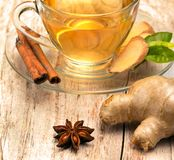 Gewürzter Ginger Tea Indicates Herbal Natural und Zimt lizenzfreie stockfotografie