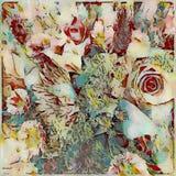 Gewaagd abstract bloemen geschilderd boeketontwerp Stock Afbeelding