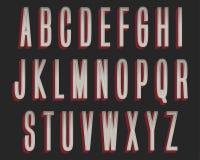 Gewaagd Grey Red Colorful Typography Design royalty-vrije illustratie