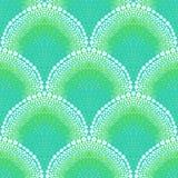 Gewaagd patroon in art decostijl in aquablauw Royalty-vrije Stock Fotografie