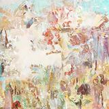Gewaagde grungy verontruste artistieke geschilderde collageachtergrond royalty-vrije illustratie