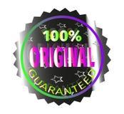 Gewaarborgd sticker origineel Royalty-vrije Stock Afbeeldingen