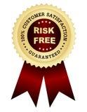 Gewaarborgde risico vrije tevredenheid Stock Fotografie