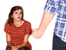 Gewalt in der Familie Stockbilder