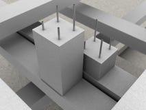 gewapend betonachtergrond Stock Foto's