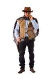 Gewapende man in het oude wilde westen  Stock Foto's