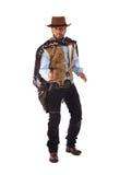 Gewapende man in het oude wilde westen  Stock Foto