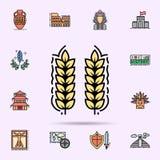 gewas, de landbouw, het tuinieren, installatiepictogram Universele reeks van geschiedenis voor websiteontwerp en ontwikkeling, ap stock illustratie