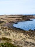 Gewaschen herauf Boot in Island Stockbilder