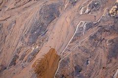 Gewassen zand, de bodem van de stroom royalty-vrije stock foto's