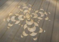 Gewassencirkel in cornfield dichtbij Mammendorf, Beieren, Duitsland royalty-vrije stock afbeeldingen
