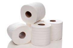 Gewatteerd wit toiletpapier royalty-vrije stock foto