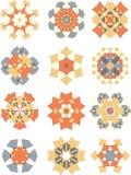 Gewatteerde ornamenteninzameling Stock Foto's