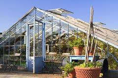 Gewächshaus in Garten Landhaus Ausustus Lizenzfreies Stockfoto