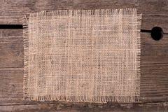 Gewebe aus Jutes-Hintergrund Lizenzfreie Stockbilder