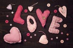 Gewebe beschriftet Liebe lizenzfreie abbildung
