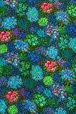Gewebe, bunte Blumen Stockbild
