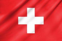 Gewebe-Flagge von der Schweiz Stockbilder