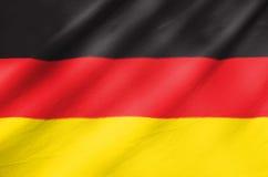 Gewebe-Flagge von Deutschland Stockfotos