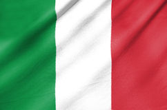 Gewebe-Flagge von Italien Stockfotos