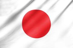Gewebe-Flagge von Japan Stockfotos