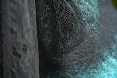 Gewebe glaubte, grünes dekoratives, Entwurf sich zu schnüren, lizenzfreie stockfotografie