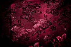 Gewebe, Hintergrundbeschaffenheit silk rotes Gewebe mit einem Muster von Florida Lizenzfreies Stockfoto