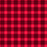 Gewebe im nahtlosen Musterschottenstoff der roten und schwarzen Faser EPS10 stock abbildung