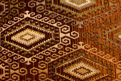 Gewebe mit geometrischen Formen von oben Lizenzfreies Stockfoto