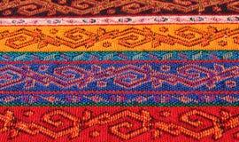 Gewebe mit orientalischem Muster Stockfotos