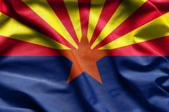Gewebebeschaffenheit der Arizona-Flagge - Flaggen von den USA Stockbilder