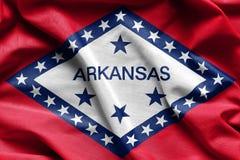 Gewebebeschaffenheit der Arkansas-Flagge - Flaggen von den USA Lizenzfreie Stockfotos