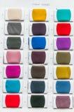 Gewebefarbe prüft Palette Lizenzfreies Stockfoto