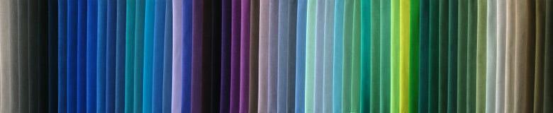 Gewebefarbenproben Stockbilder