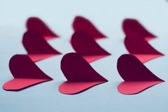 Gewebeherzen für Valentinstag lizenzfreie stockfotografie