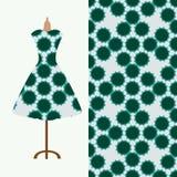 Gewebemusterdesign für das Kleid einer Frau Vervollkommnen Sie für den Druck auf Gewebe oder tapezieren Sie Stockfoto
