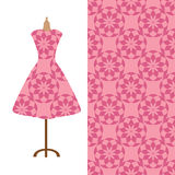 Gewebemusterdesign für das Kleid einer Frau Vervollkommnen Sie für den Druck auf Gewebe oder tapezieren Sie Lizenzfreie Stockfotos