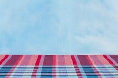 Gewebeplaid Baumwolle des bunten Hintergrundes und der abstrakten Beschaffenheit Lizenzfreies Stockfoto
