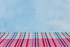 Gewebeplaid Baumwolle des bunten Hintergrundes und der abstrakten Beschaffenheit Lizenzfreie Stockfotos