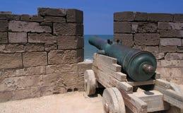 Gewehr auf essaouira Rampart Lizenzfreies Stockfoto