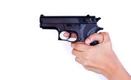 Gewehr in der Hand Lizenzfreie Stockfotos