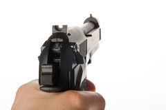 Gewehr in der Hand Stockbilder