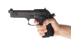 Gewehr in der Hand Lizenzfreies Stockbild
