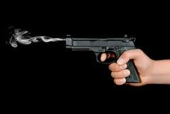 Gewehr in der Hand stockbild