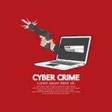 Gewehr in der Hand Cyber-Verbrechen-Konzept Stockfotografie